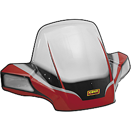 Quadboss Flare Fairing Windshield - 2008 Arctic Cat 650 H1 4X4 AUTO TRV Quadboss Fender Protectors - Wrinkle