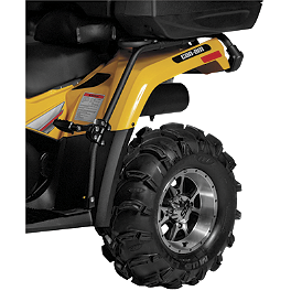 Quadboss Fender Protectors - Wrinkle - 2009 Kawasaki BRUTE FORCE 650 4X4 (SOLID REAR AXLE) Moose Utility Rear Bumper