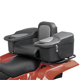 Quadboss Sit-N-Store Rear Box - Quadboss Quick Release Universal Windshield With Headlight Cutout