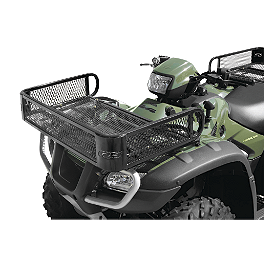 Quadboss Mesh Rack Front Universal - Quadboss Quick Release Universal Windshield With Headlight Cutout