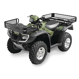 Quadboss Mesh Rack Front/Rear - 2005 Kawasaki BRUTE FORCE 750 4X4i (IRS) Quadboss Fender Protectors - Wrinkle