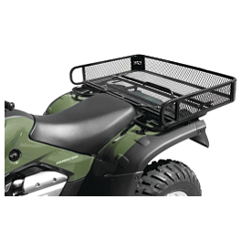 Quadboss Mesh Rack Rear Universal - 2008 Kawasaki BRUTE FORCE 750 4X4i (IRS) Quadboss Fender Protectors - Wrinkle