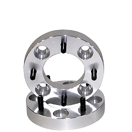 "Quadboss 1"" Wheel Spacers - 4/115 - 2010 Arctic Cat 700 H1 4X4 EFI AUTO TRV Quadboss Fender Protectors - Wrinkle"