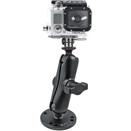 "RAM Mounts GoPro Hero Adapter With 2.5"" Round Mount - RAM Mounts Video Camera Mount For Rails/Bars"