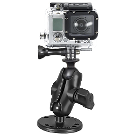 "RAM Mounts GoPro Hero Short Adapter With 2.5"" Round Mount - RAM Mounts Holder For TomTom Devices"