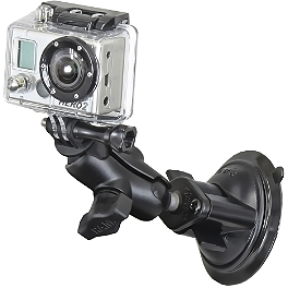 RAM Mounts GoPro Hero Adapter With Short Suction Mount - RAM Mounts Short Double Socket Arm For 1