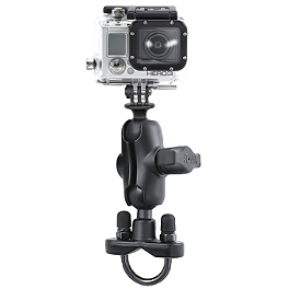 RAM Mounts GoPro Hero Short Adapter With U-Bolt Mount - RAM Mounts Short Double Socket Arm For 1