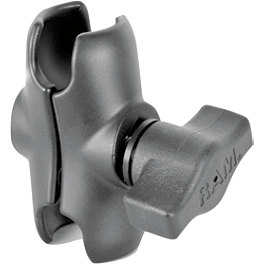 "RAM Mounts Short Double Socket Arm For 1"" Ball Bases - RAM Mounts Diamond Base With Ball"