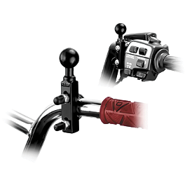 RAM Mounts Handlebar Combo Kit - RAM Mounts Single Hole Base With Ball