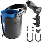 RAM Mounts Cup Holder With Brake/Clutch Reservoir Mount -  Motorcycle Electronic Accessories