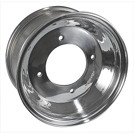 Rock Aluminum Front Wheel - 10X5 - Rock Aluminum Rear Wheel - 8X8