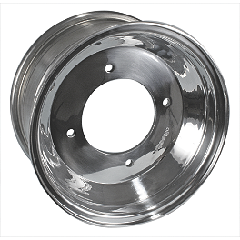 Rock Aluminum Rear Wheel - 10X8 - Rock Aluminum Front Wheel - 10X5