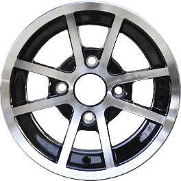 Rock A168 Aluminum Front Wheel - 14X7 Black/Silver 4+3 - 1994 Yamaha BIGBEAR 350 4X4 Rock Billet Wheel Spacers - 4/110 45mm