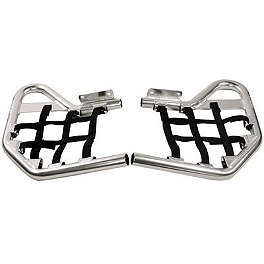 Rock Nerf Bars - Polished - 1999 Honda TRX400EX Rock E-Brake Block Off Plate - Flame