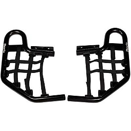 Rock Nerf Bars - Black - 2012 Kawasaki KFX450R Rock Cross Country Front Bumper - Polished