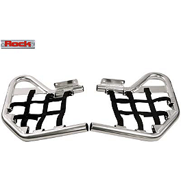 Rock Nerf Bars - Polished - 2012 Kawasaki KFX450R Rock E-Brake Block Off Plate - Flame