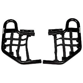 Rock Nerf Bars - Black - 2002 Yamaha WARRIOR AC Racing Nerf Bars