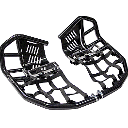 Rock Pro Series Race Nerf Bars - Black - 2004 Arctic Cat DVX400 Rock Cross Country Front Bumper - Black
