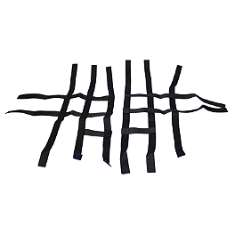 Rock Pro Series Nerf Bar Nets - Black - 2008 Honda TRX450R (ELECTRIC START) Rock T-9 Pro Nerf Bar Heel Net