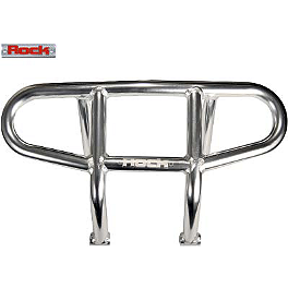 Rock Racing Front Bumper - Polished - 2013 Yamaha YFZ450 Rock T-9 Pro Nerf Bars - Silver