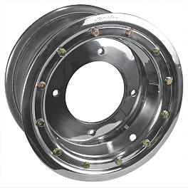 Rock Standard Beadlock Wheel Front - 10X5 - 1998 Polaris TRAIL BLAZER 250 Rock Aluminum Front Wheel - 10X5