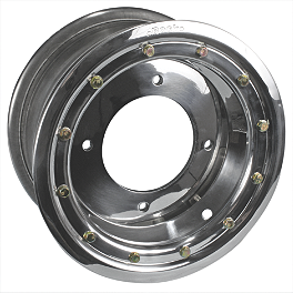 Rock Standard Beadlock Wheel Rear - 8X8 - 2011 Kawasaki KFX450R Rock Aluminum Rear Wheel - 10X8