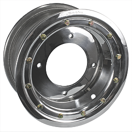 Rock Standard Beadlock Wheel Rear - 9X8 - 2009 Kawasaki KFX450R Rock Aluminum Rear Wheel - 10X8