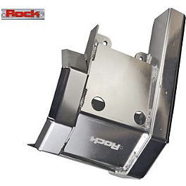 Rock Swingarm Skid Plate - 2009 Kawasaki KFX450R Rock E-Brake Block Off Plate - Flame
