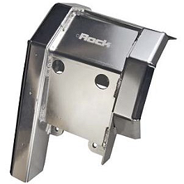 Rock Swingarm Skid Plate - 2006 Arctic Cat DVX400 Rock E-Brake Block Off Plate - Flame