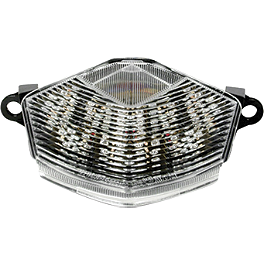 Rumble Concept Integrated LED Tail Light Kit - Clear - 2007 Kawasaki ZR1000 - Z1000 AKO Racing LED Integrated Tail Light