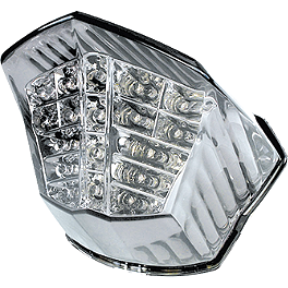 Rumble Concept Integrated LED Tail Light Kit - Clear - 2010 Yamaha FZ6R AKO Racing LED Integrated Tail Light