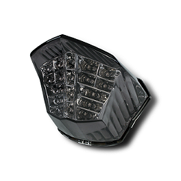 Rumble Concept Integrated LED Tail Light Kit - Smoke - 2010 Yamaha FZ6R AKO Racing LED Integrated Tail Light