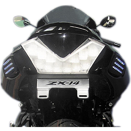 Rumble Concept Backdraft LED Turn Signals - Lime Green - Rumble Concept Backdraft LED Turn Signals - Oort Grey Metallic