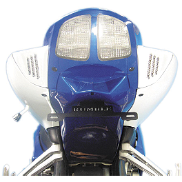 Rumble Concept Backdraft LED Turn Signals - Pearl Splash White - 2007 Suzuki GSX-R 600 Rumble Concept Backdraft LEDTurn Signals - Space Black