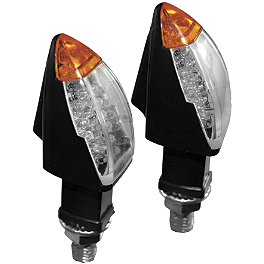 Rumble Concept Shuttle LED Turn Signals - Show Chrome LED Lighted License Plate Trim