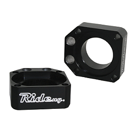 Ride Engineering Axle Blocks - Black - 2011 Honda CRF250R Ride Engineering Linkage Red