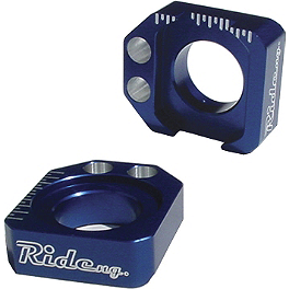 Ride Engineering Axle Blocks - Blue - 2012 Suzuki RMZ250 Ride Engineering Timing Plugs