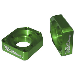 Ride Engineering Axle Blocks - Green - 2010 Suzuki RMZ450 Ride Engineering Timing Plugs