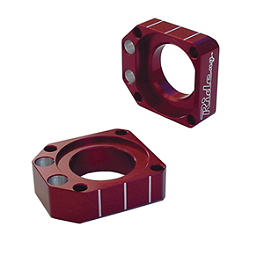 Ride Engineering Axle Blocks - Red - Ride Engineering Front Wheel Spacers - Red