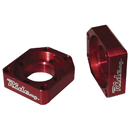 Ride Engineering Axle Blocks - Red - 2002 Yamaha WR250F Ride Engineering Front Brake Reservoir Cap - Red