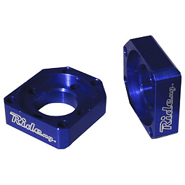 Ride Engineering Axle Blocks - Blue - 2002 Yamaha WR250F Ride Engineering Front Brake Reservoir Cap - Red