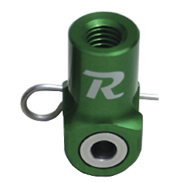 Ride Engineering Rear Brake Clevis - Green - 2007 Kawasaki KX450F Ride Engineering Timing Plugs