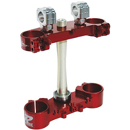 Ride Engineering Billet Clamp Set - 20mm Offset - Red - 2004 Honda CRF450R Ride Engineering Timing Plugs