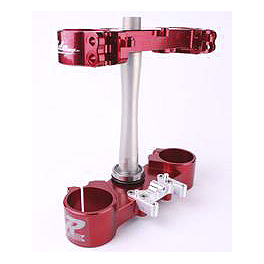 Ride Engineering Billet Clamp Set - 20mm Offset - Red - 2011 Honda CRF250R Ride Engineering Billet Clamp Set - 22mm Offset - Red
