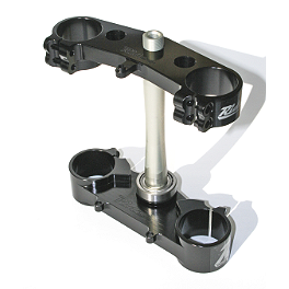 Ride Engineering Billet Clamp Set - 22mm Offset - Black - 2010 Honda CRF450R Yoshimura Quiet Insert - RS-4 - 94dB