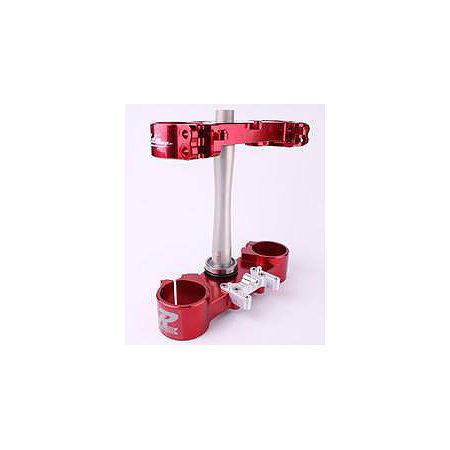 Ride Engineering Billet Clamp Set - 22mm Offset - Red - Main