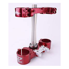 Ride Engineering Billet Clamp Set - 22mm Offset - Red - 2011 Honda CRF250R Ride Engineering Linkage Red