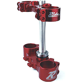 Ride Engineering Billet Clamp Set - 20mm Offset - Red - Ride Engineering Bar Mounts - Standard 7/8