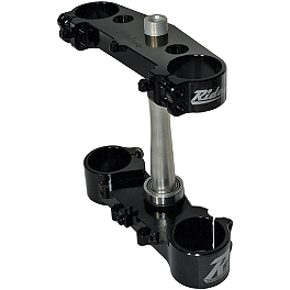 Ride Engineering Billet Clamp Set - 22mm Offset - Black - 2010 Suzuki RMZ250 Yoshimura Quiet Insert - RS-4 - 94dB