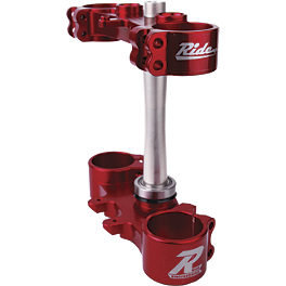 Ride Engineering Billet Clamp Set - 20mm Offset - Red - 2012 Suzuki RMZ450 Ride Engineering Timing Plugs